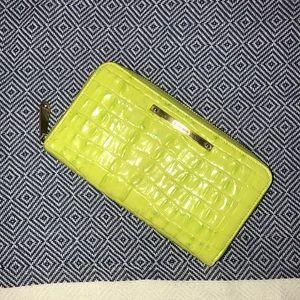 Brahmin leather zip wallet